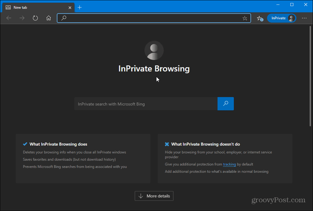 microsoft edge inprivate mode