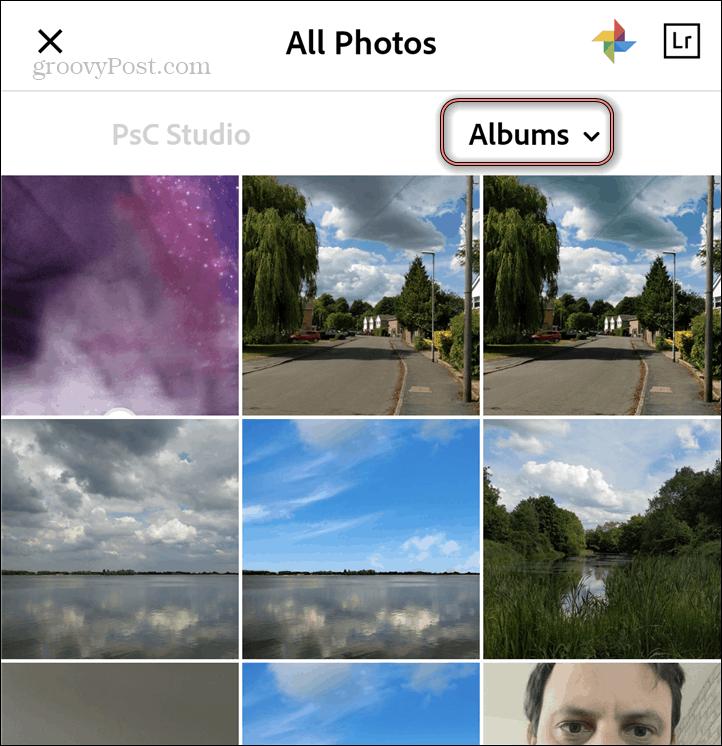 Adobe Photoshop Camera gallery select image
