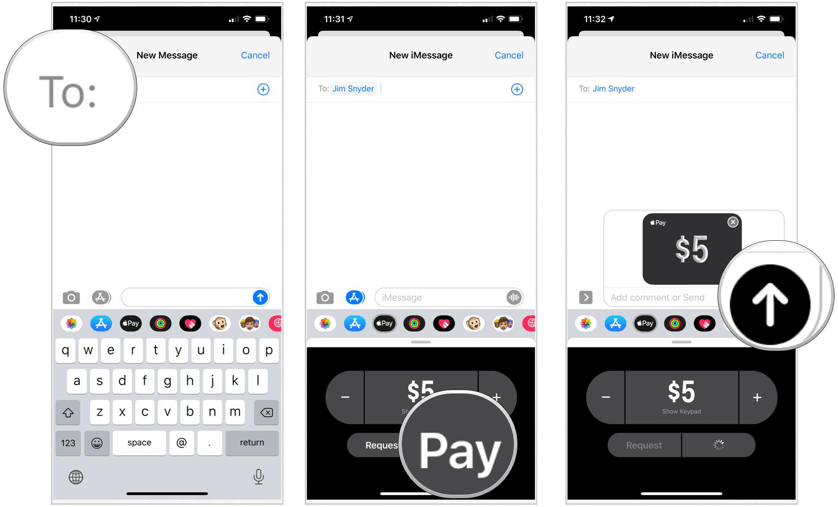 Apple Card send money