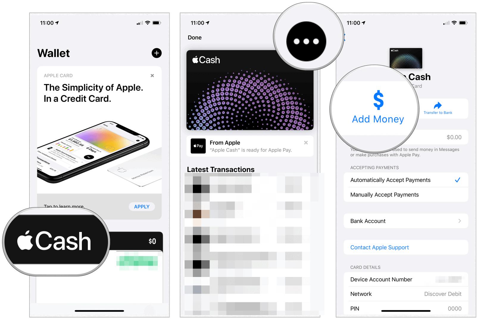 Apple Cash add money