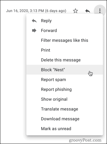 Blocking in Gmail
