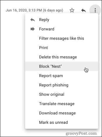 Blocking in Gmail