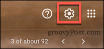 Settings icon in Gmail