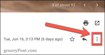 Three-dots menu icon in Gmail