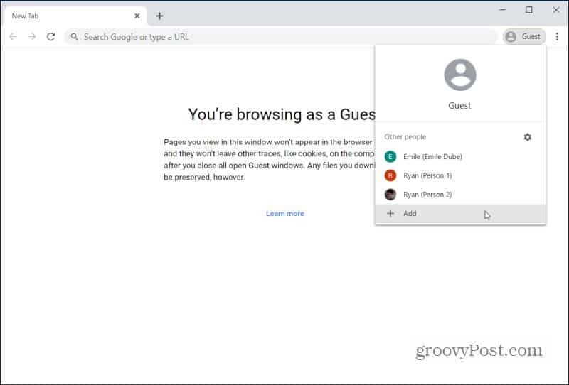 chrome google account