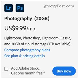 Photoshop pricing