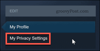 Changing Steam privacy settings