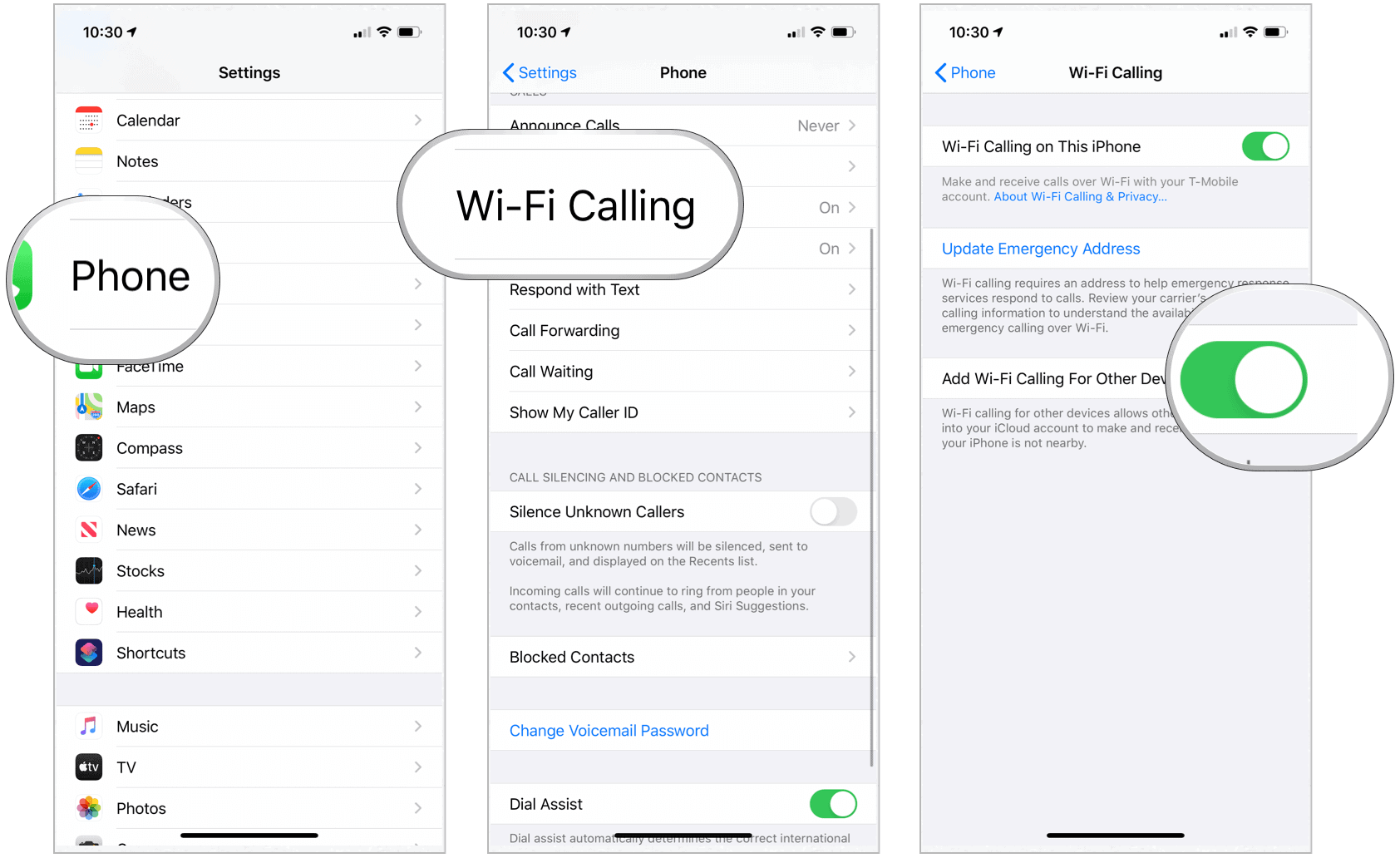 iPhone Wi-Fi Calling on Other Devices