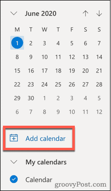 Add calendar icon in Outlook