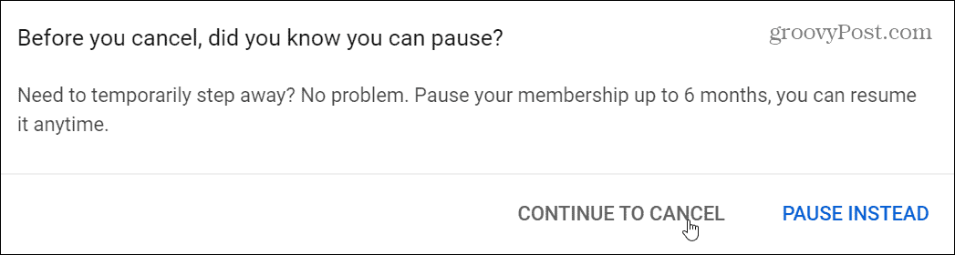 pause or cancel