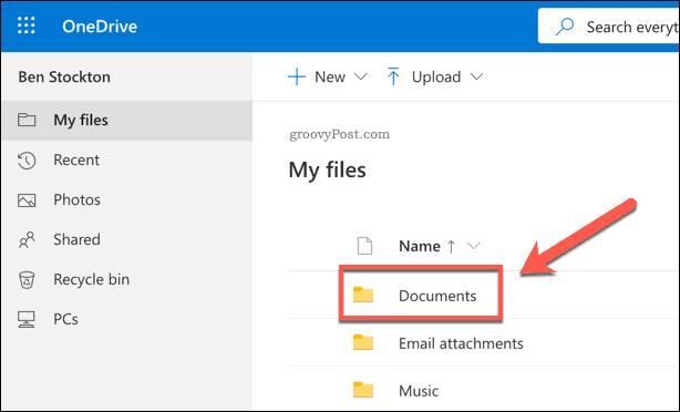 OneDrive Documents Folder