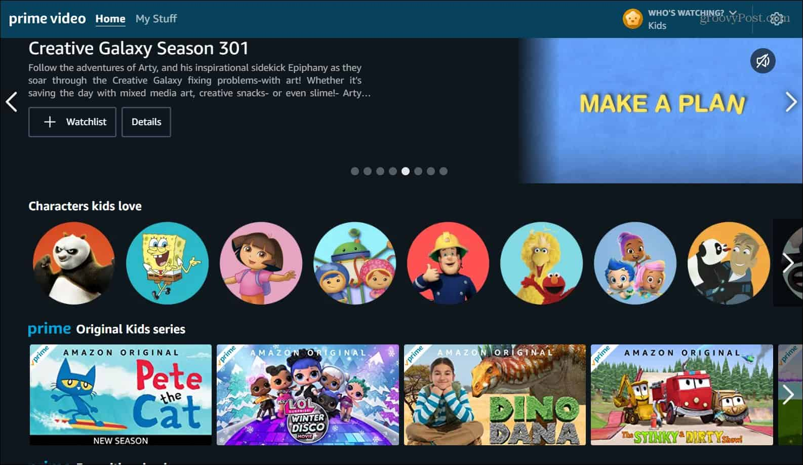 amazon prime video kids profile