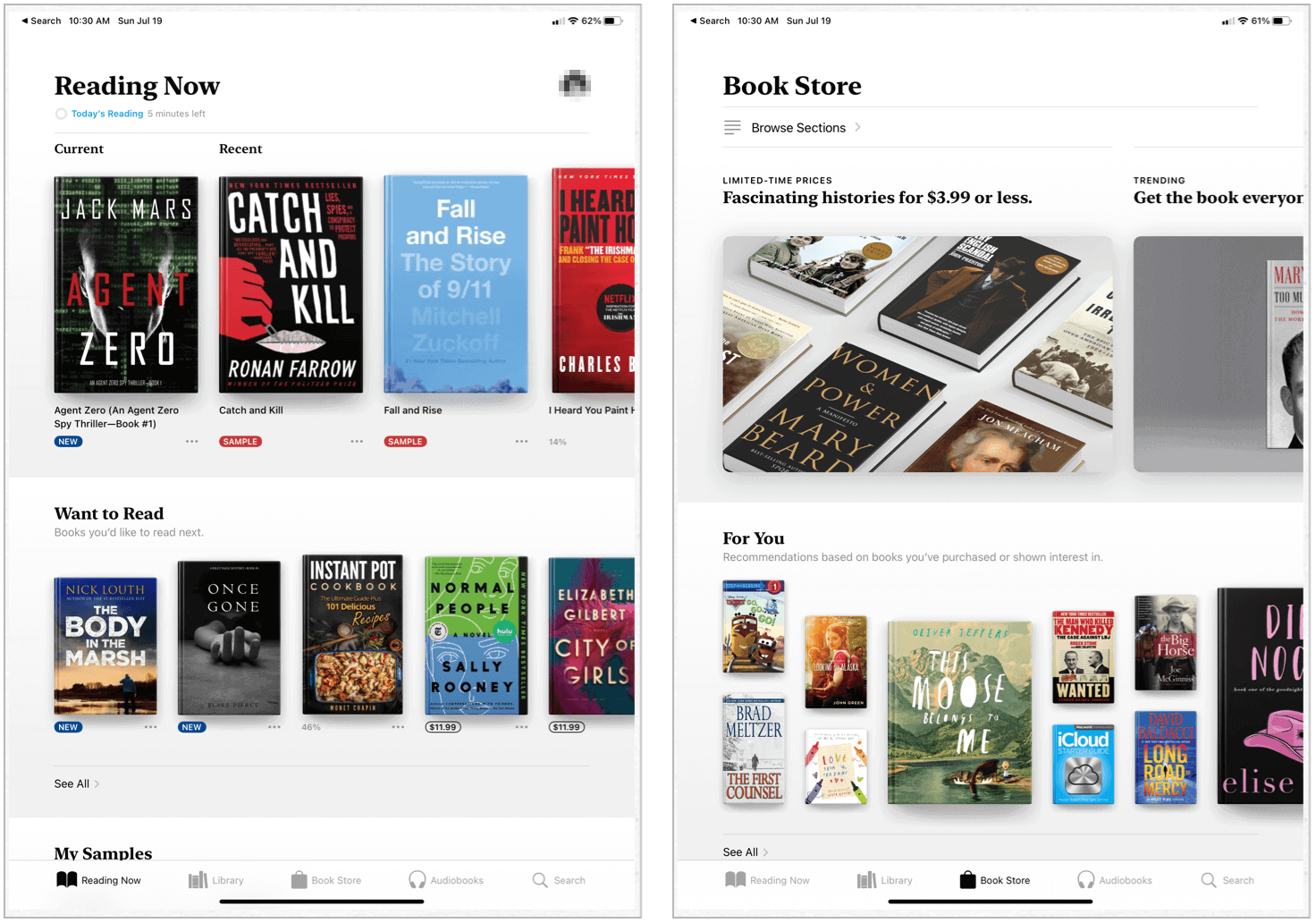 Apple Books on iPad