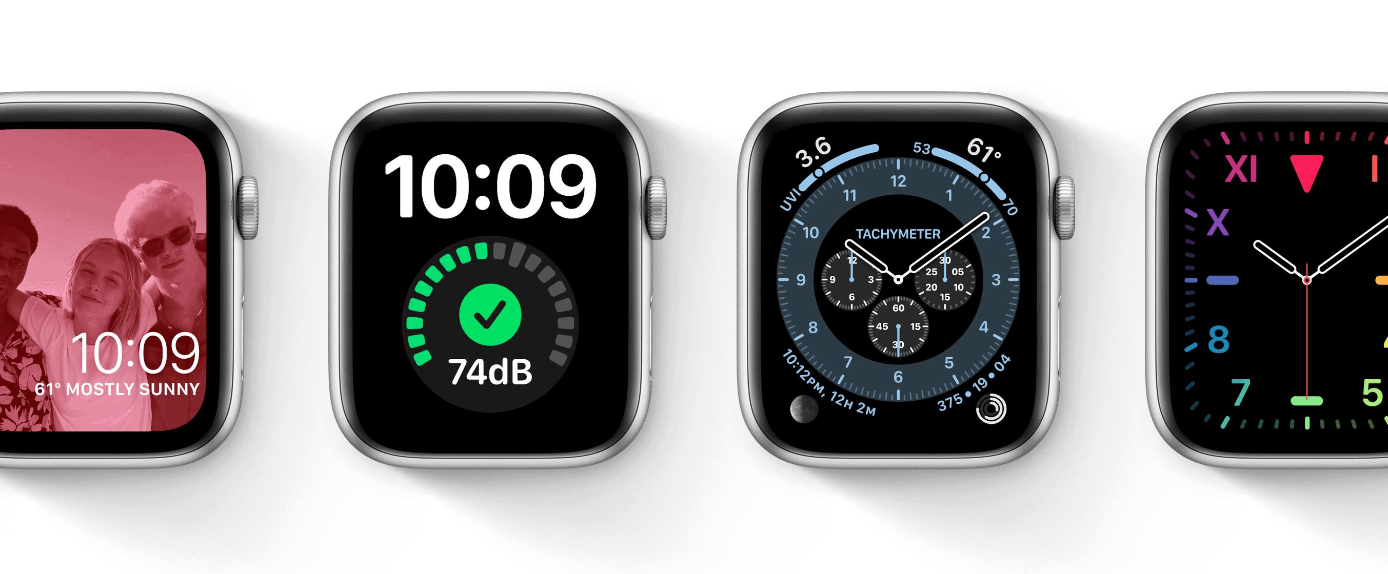 Apple Watch faces in watchOS 7