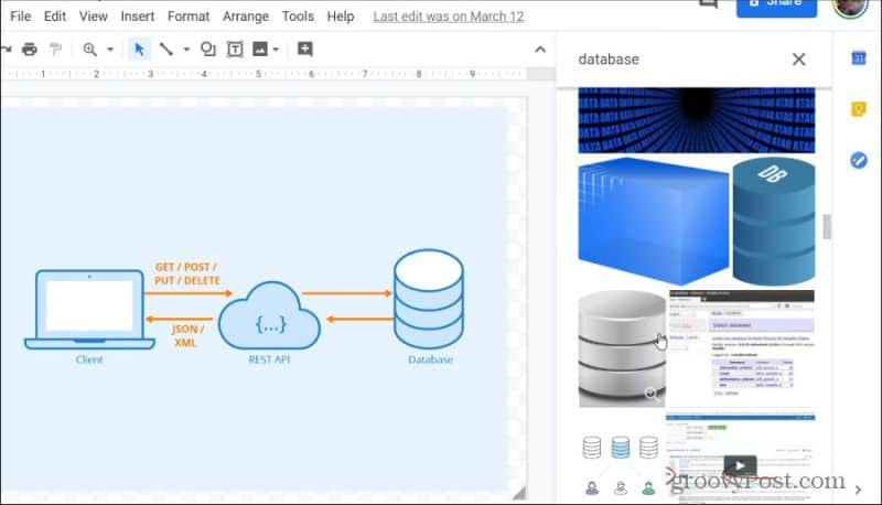 google drawings library
