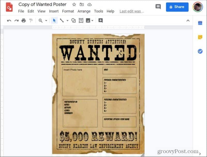 google drawings poster