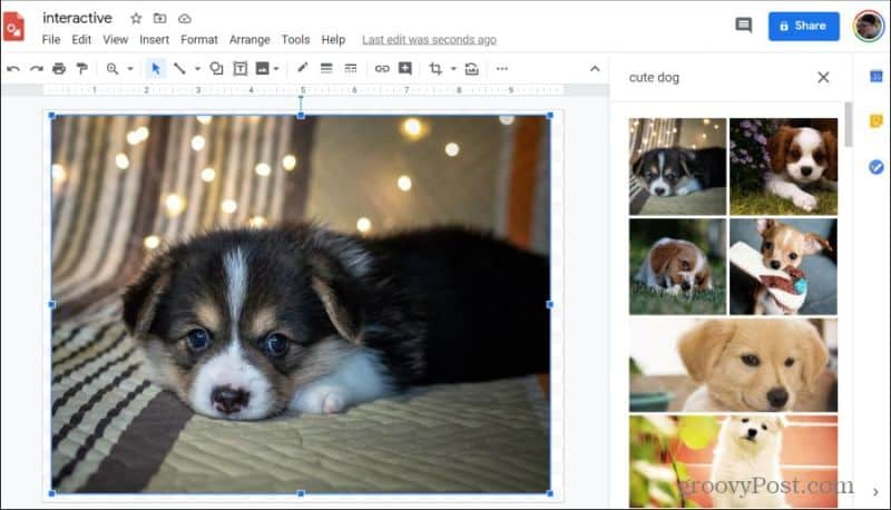 import image into google drawings