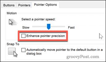 Enhance pointer precision option