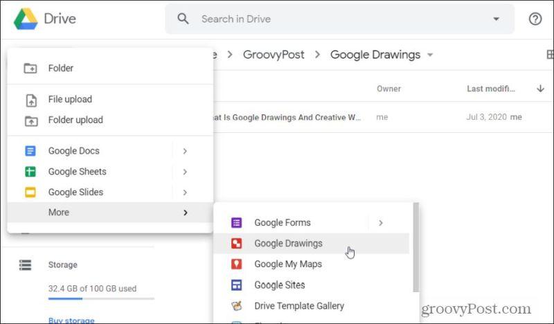 opening google drawings