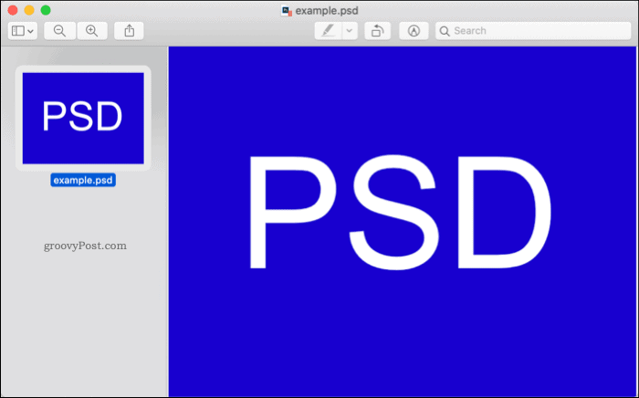 Opening a PSD file in macOS