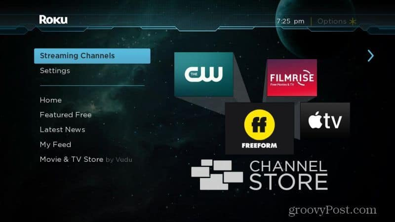 featured roku channels