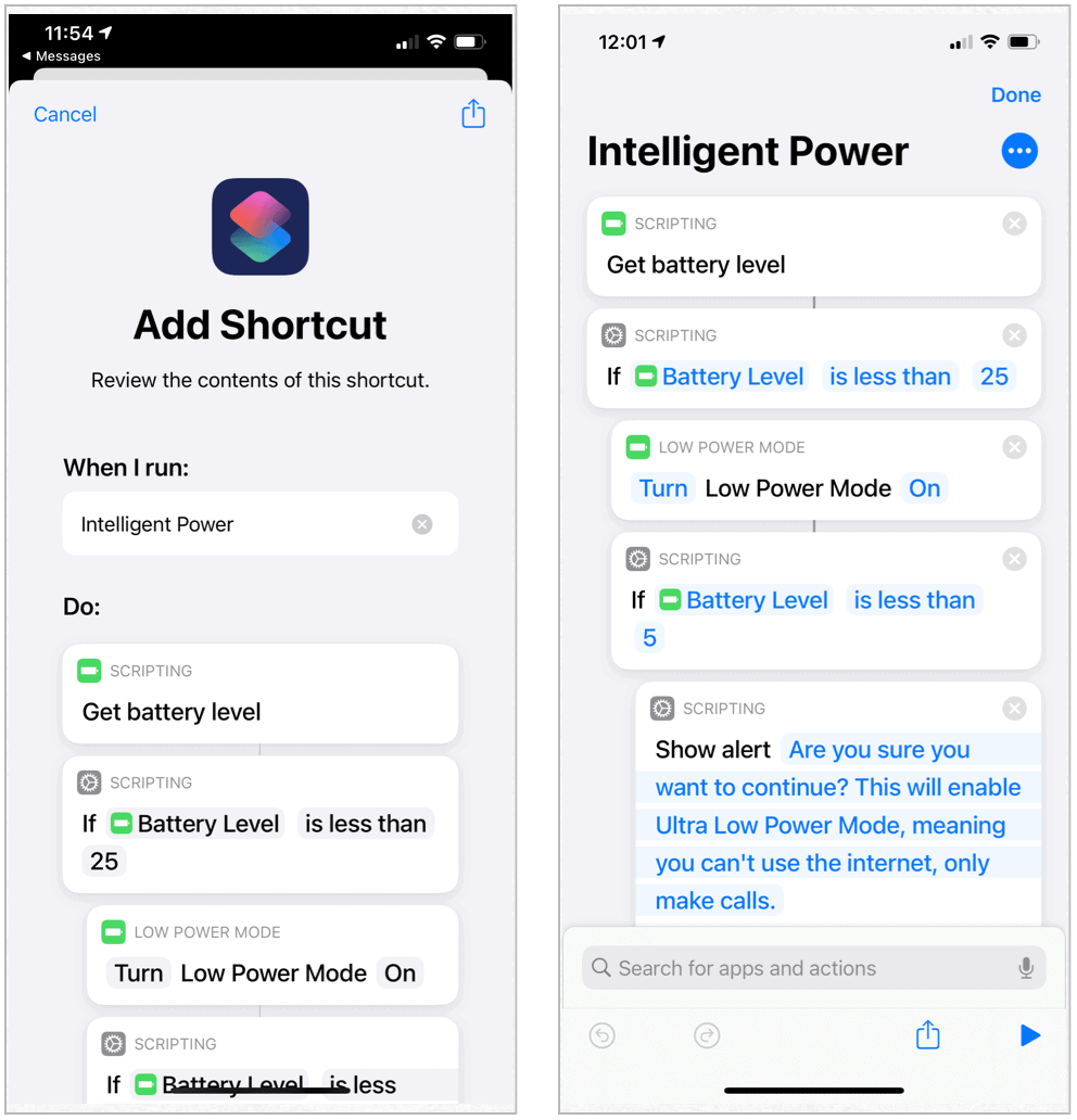 Siri Shortcuts Intelligent Power