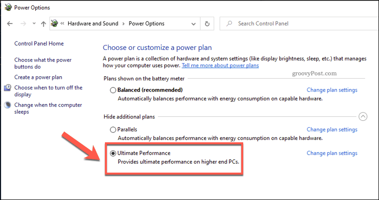 Enable Ultimate Performance Mode in Windows 10