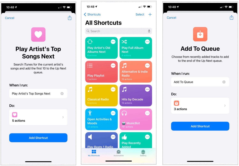 Apple Music Siri Shortcuts