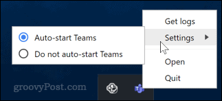 Disable Microsoft Teams start up