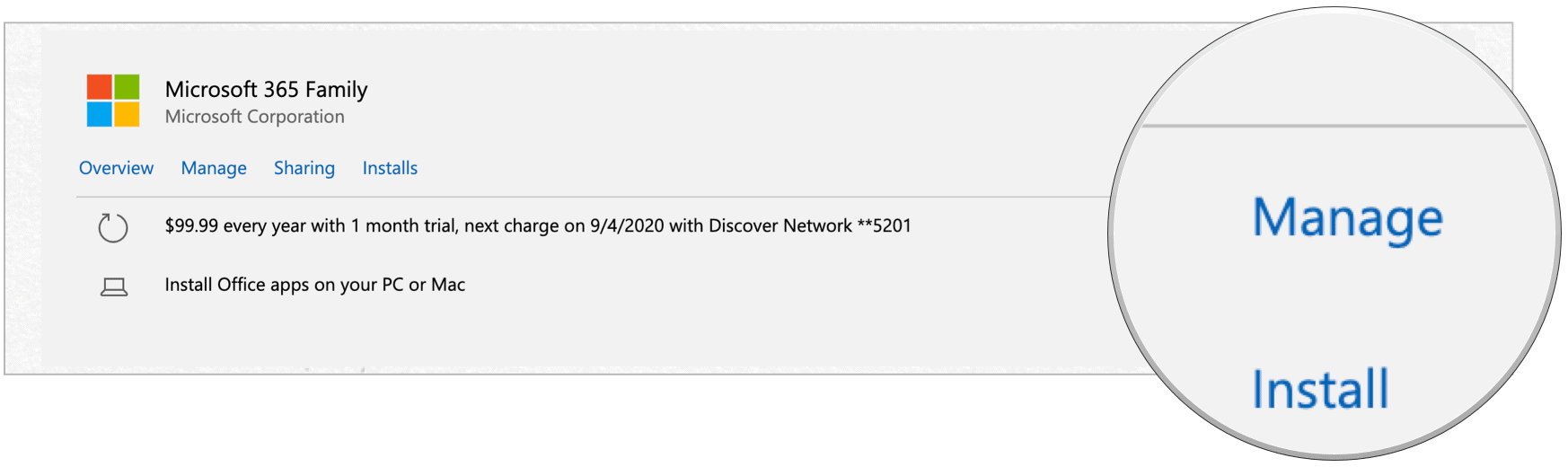 Microsoft 365 cancel manage