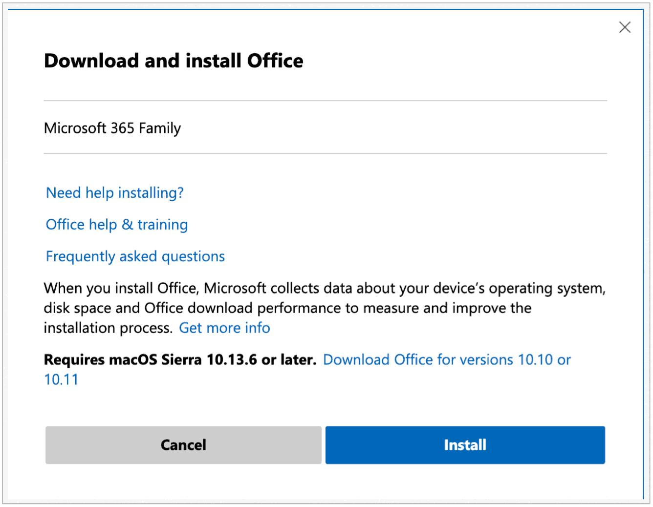 Microsoft 365 Web Install