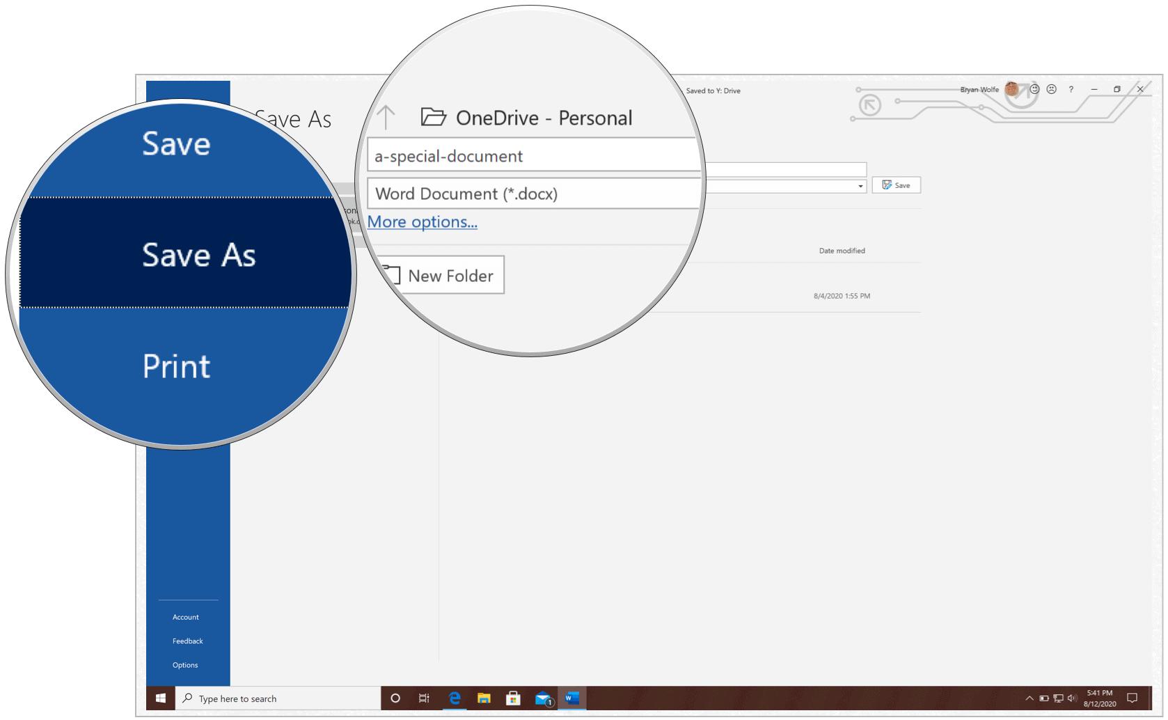 Microsoft Word Save As