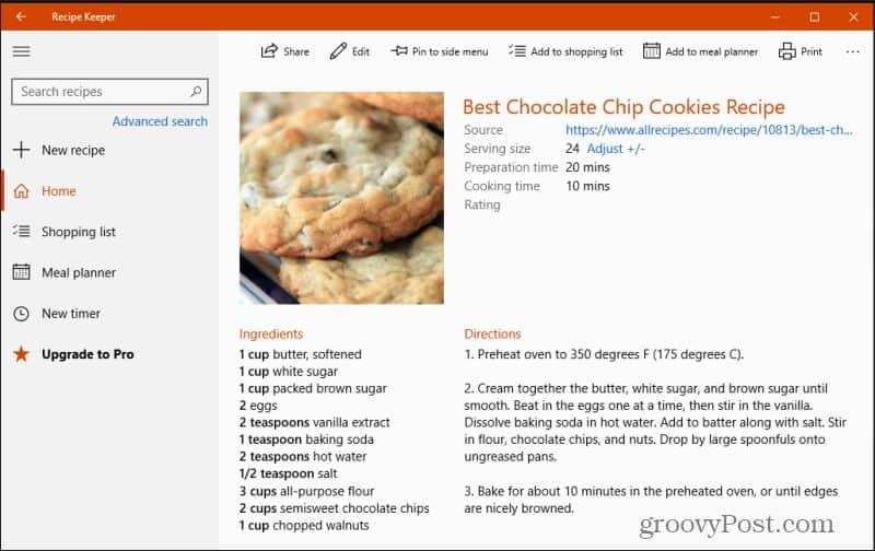 recipe keeper main recipe