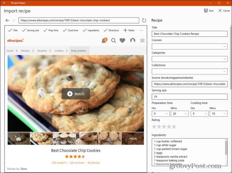 recipe keeper web import
