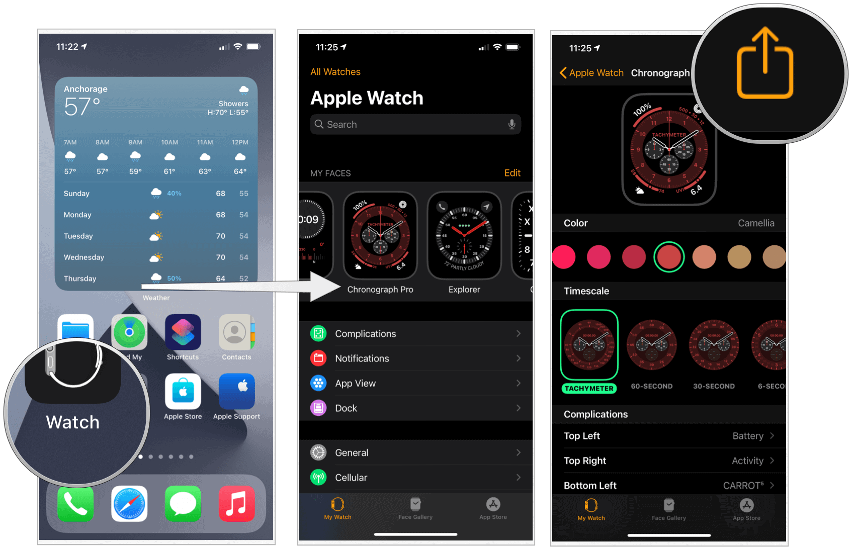 Share Watch faces on iPhone