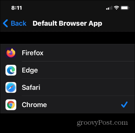 select browser iPhone