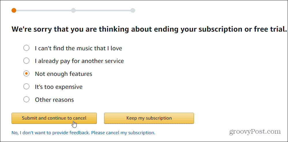 4 cancel amazon music