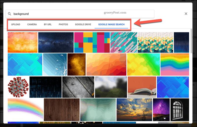 Adding a background image to Google Slides