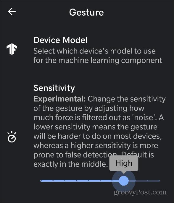 Gesture Sensitivity