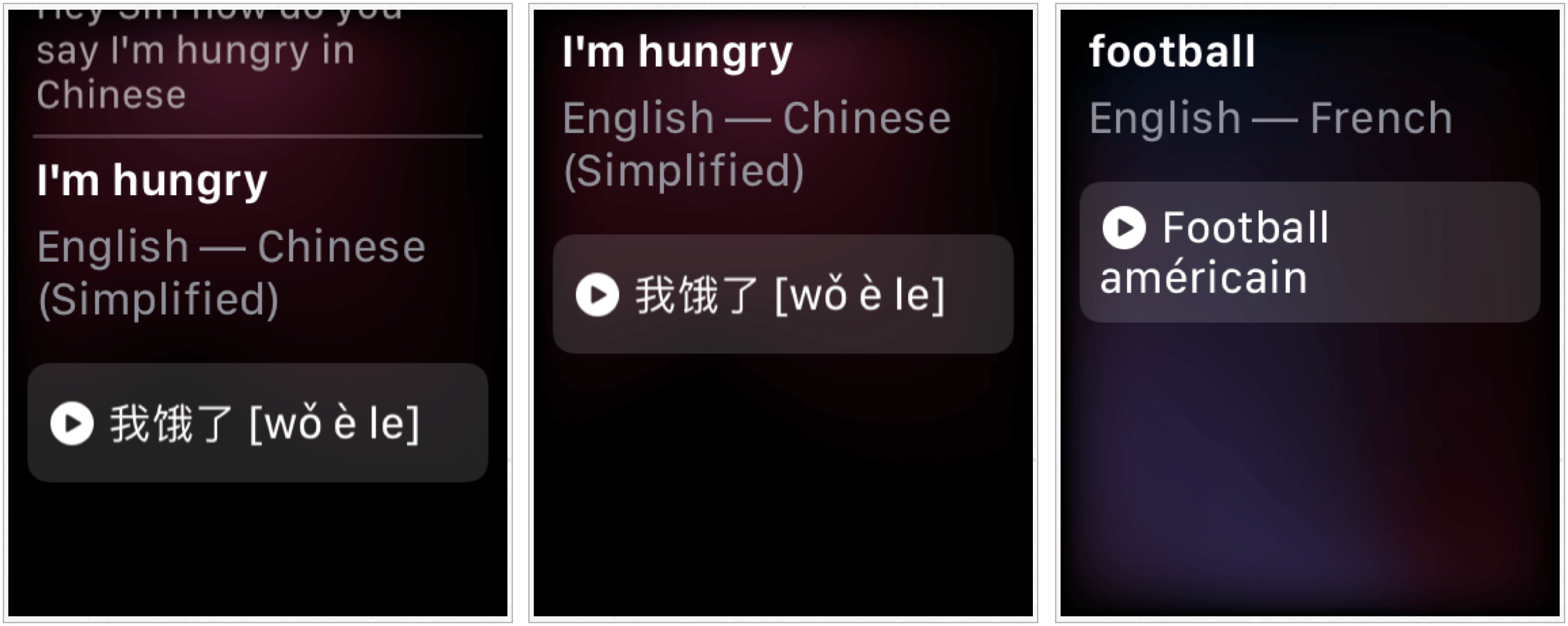 Apple Watch translation