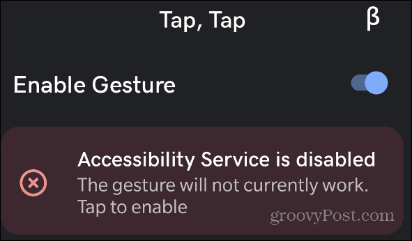 enable accessibility service