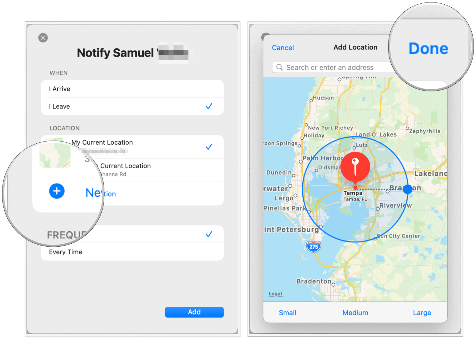 Find my Mac select location