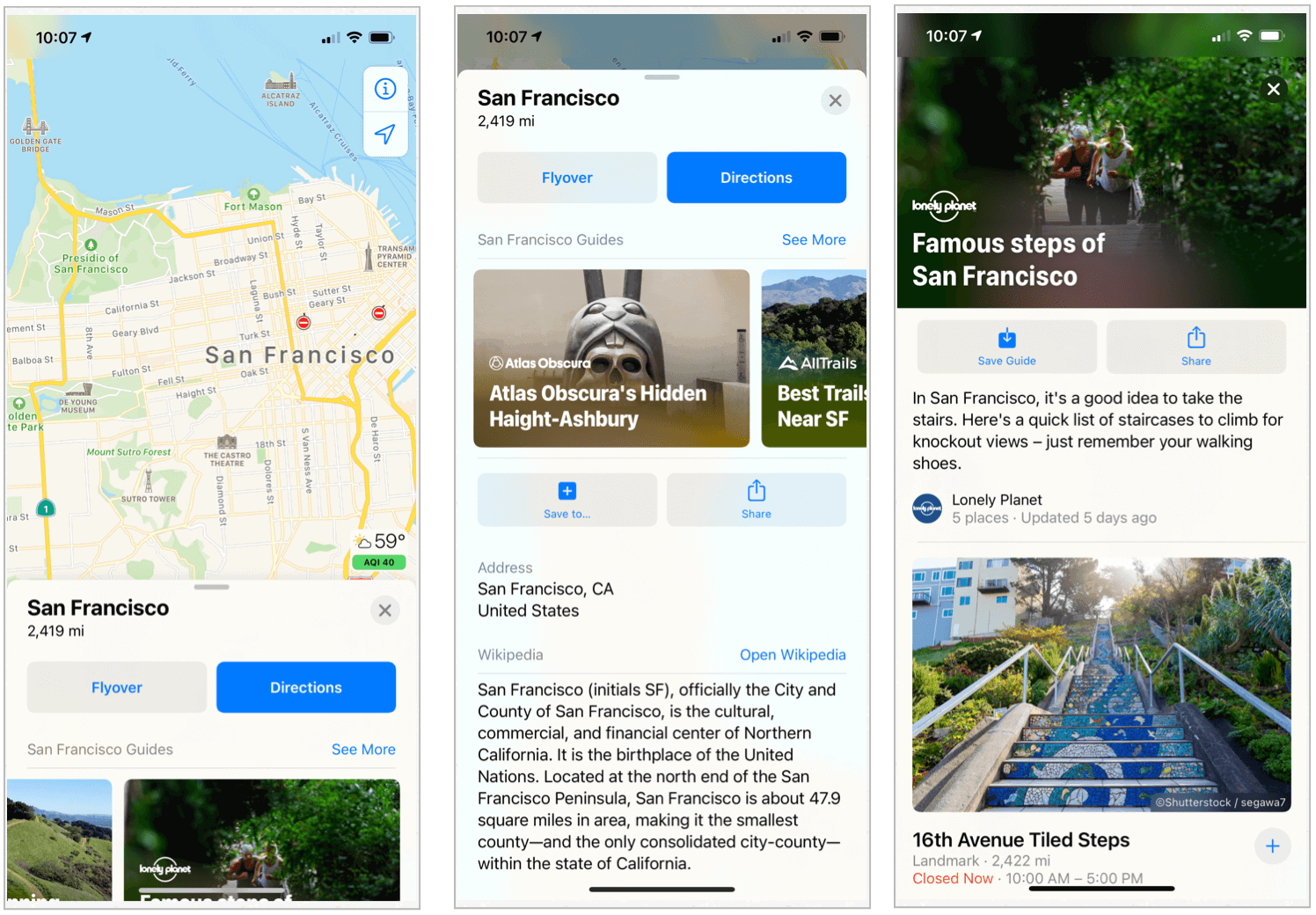 iOS 14 city guides