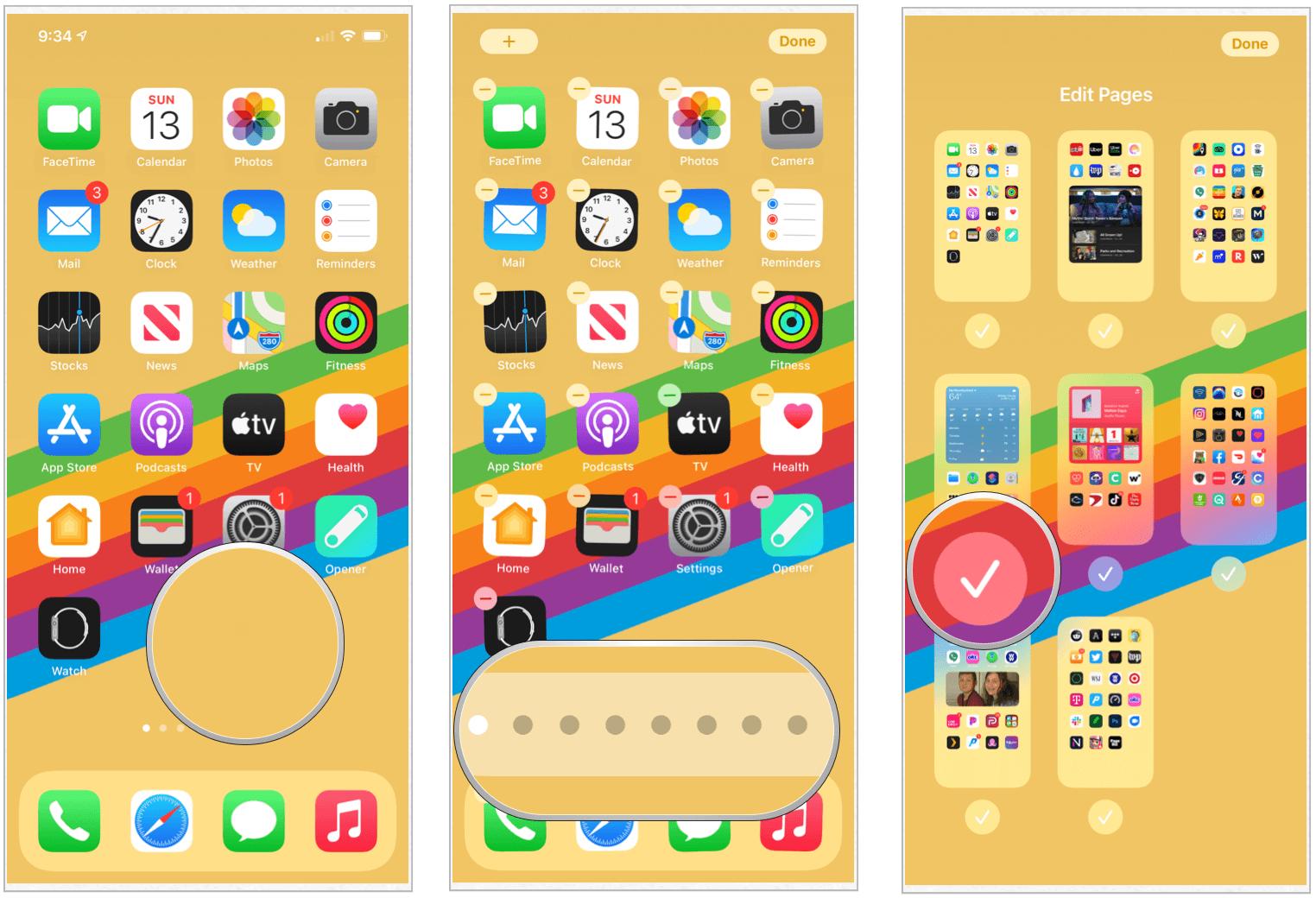 iOS 14 hide app screens