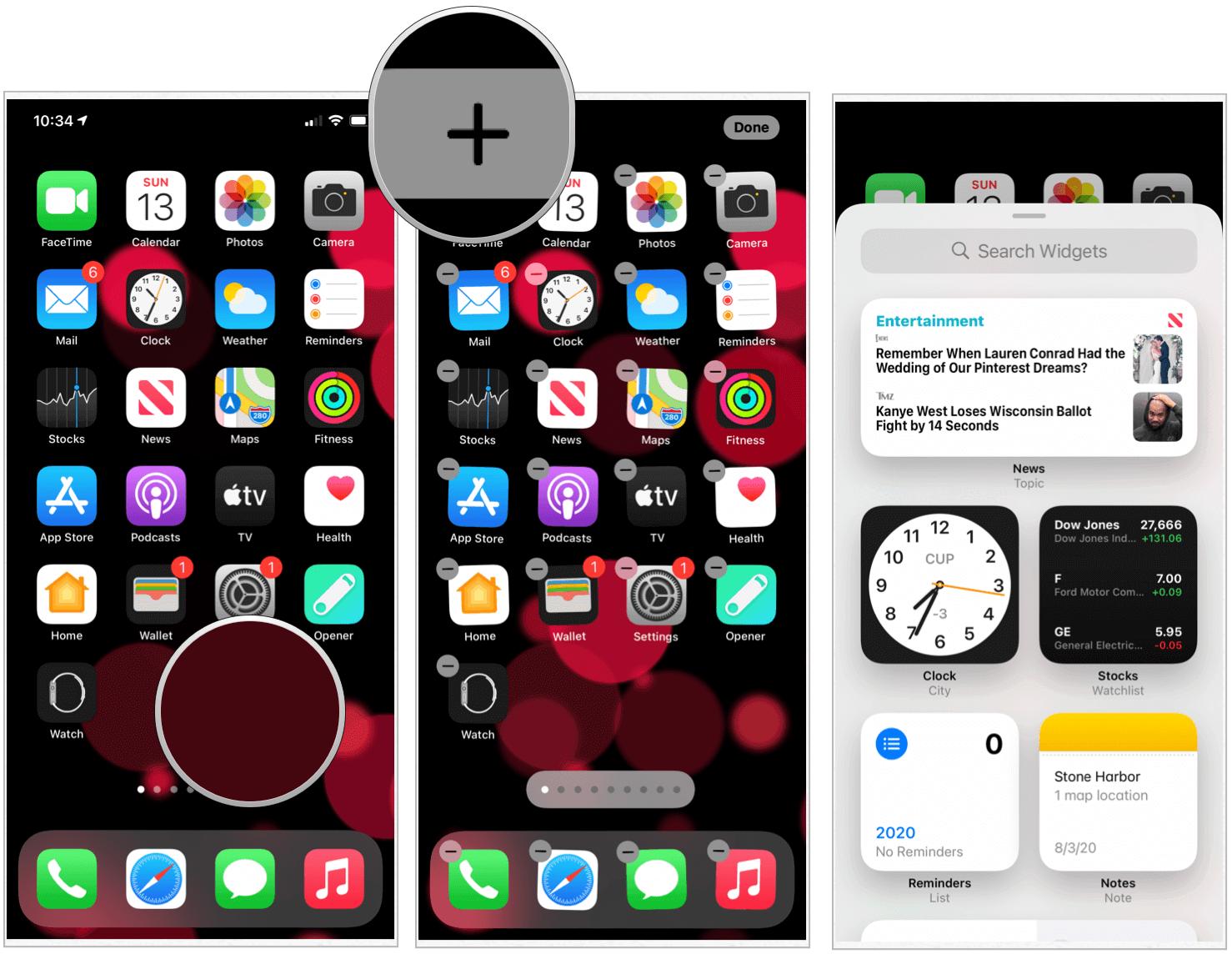 iOS 14 widgets settings