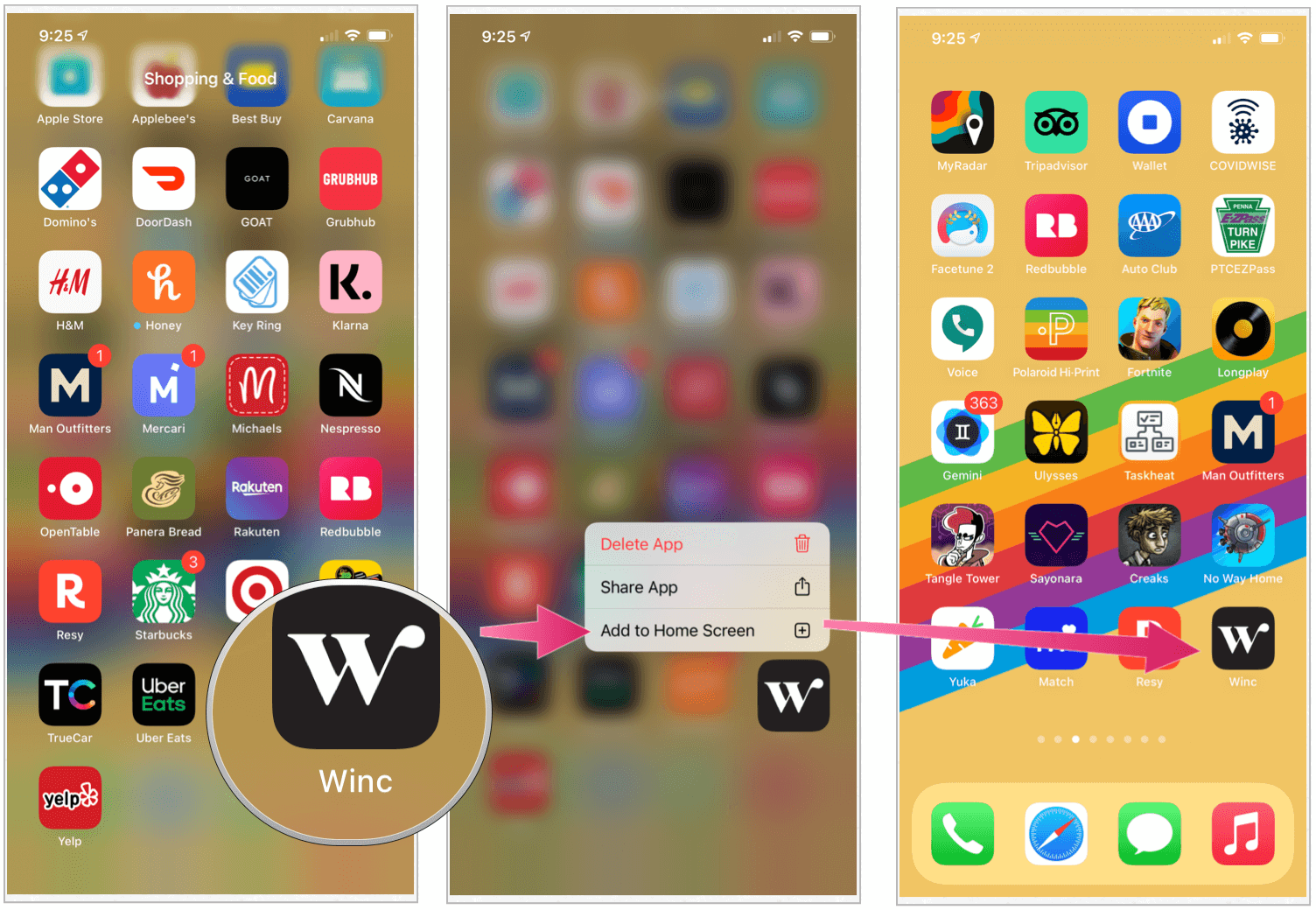 iPhone iOS 14 add app