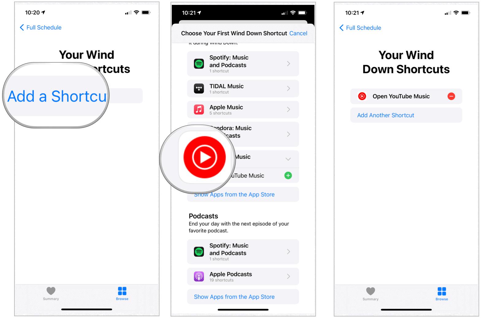 iPhone wind down shortcuts