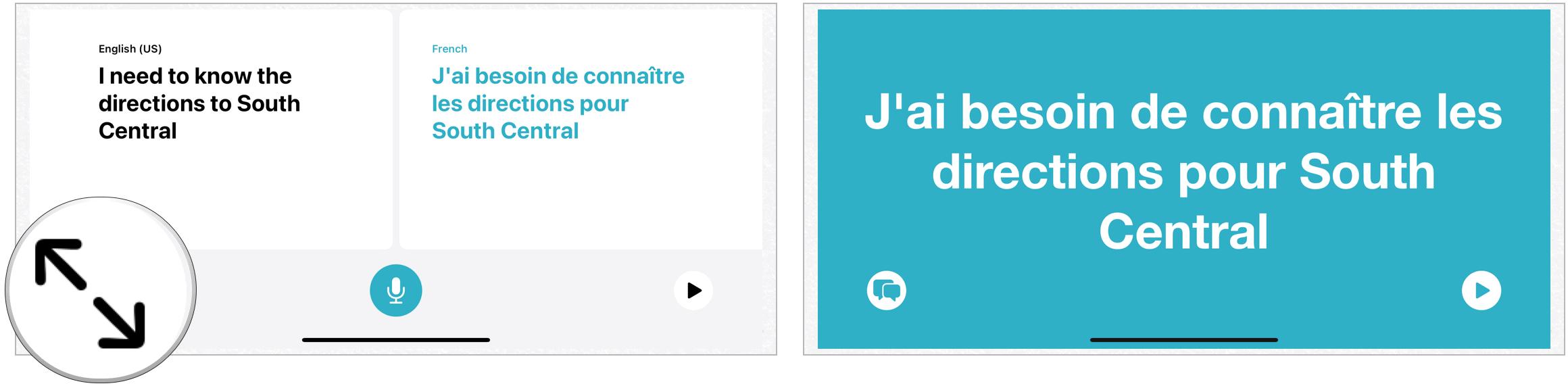 Translation expand mode