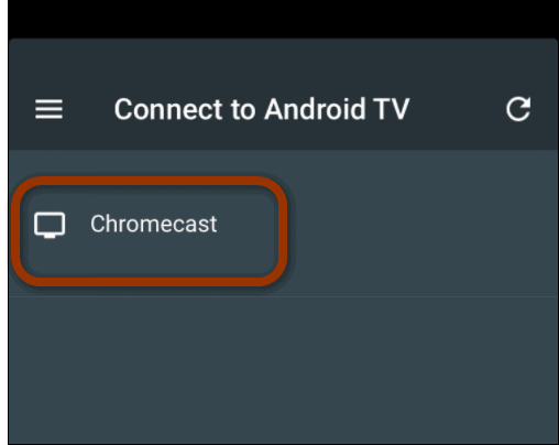 connect to Chromecast