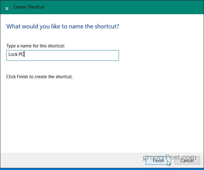 How To Create A Desktop Shortcut To Lock Windows 10